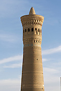 Uzbekistan, Bukhara. Kalon Ensemble. Kalon minaret.