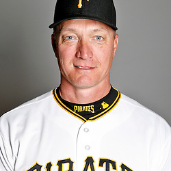 February 17, 2013; Bradenton, FL, USA;  Pittsburgh Pirates bench coach Jeff Banister (28) poses for photo day at Pirate City.  Mandatory Credit: Derick E. Hingle-USA TODAY Sports