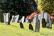 Graves in the Westminster West Cemetery, which was established in 1784, in Westminster West, Vermont.
