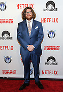 Actor Zack Pearlman poses on the red carpet at the premiere of the movie Staten Island Summer at Sunshine Cinema, Tuesday, July 21, 2015, in New York.  The new comedy debuts on Netflix on July 30, 2015 and is available for Digital download. (Photo by Diane Bondareff/Invision for Paramount Pictures/AP Images)