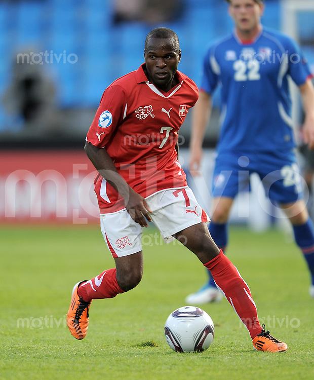 FUSSBALL   UEFA U21-EUROPAMEISTERSCHAFT 2011   GRUPPE A 14.06.2011 Schweiz - Island        Innocent Emeghara (Schweiz)