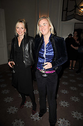 Left to right, GEORGIA CHANNON and COUNTESS MANFREDIE DELLA GHERARDESCA at a party to celebrate Penguin's reissue of Nancy Mitford's 'Wigs on The Green' hosted by Tatler at Claridge's, Brook Street, London on 10th March 2010.