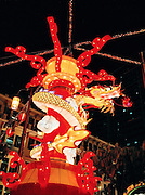 Dragon float in Chinatown for the New Year