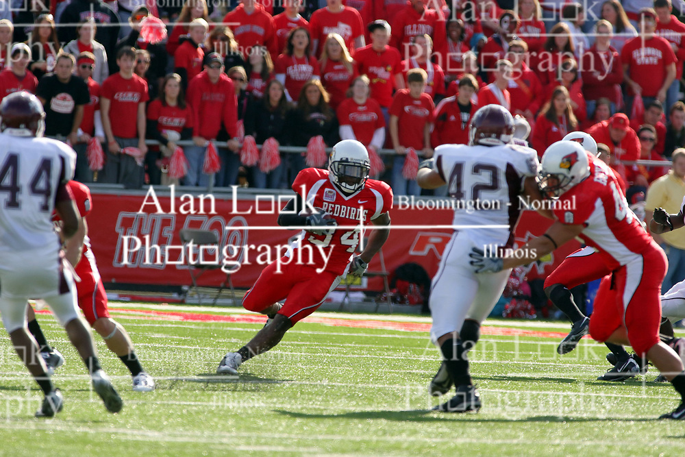18 October 2008: Parrish Fisher makes a cut up field after receiving a kick from the Bears in a game which the Missouri State Bears came from behind to beat the Illinois State Redbirds 34-28 in front of 13,292 fans at Hancock Stadium on Illinois State Universities campus in Normal Illinois