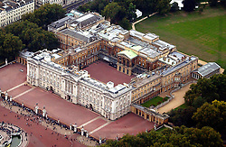 Aerial view of Buckingham Palace,September 2002.