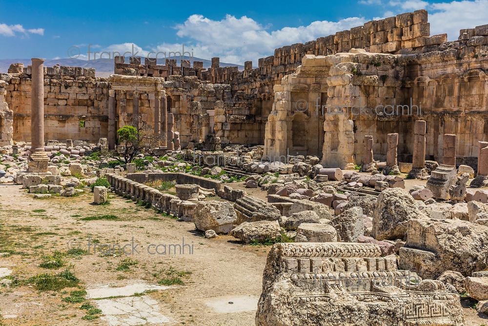 Temple of Jupiter romans ruins of  Baalbek in Beeka valley Lebanon Middle east