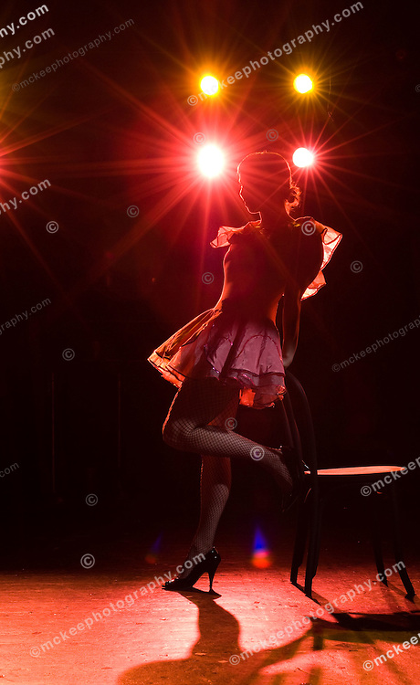 Dancer on stage in spot light