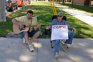 Members of CUPE local 1393 wait for any details on the fourth day of bargaining on the 20th day of the strike against the University of Windsor.