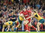 George North of Wales almost breaks through the Australian defence  during the International Test Match match at the Millennium Stadium, Cardiff<br /> Picture by Michael Whitefoot/Focus Images Ltd 07969 898192<br /> 08/11/2014