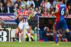 Martin Kelly of Crystal Palace tackles Jonathan Walters of Stoke City  - Mandatory by-line: Jason Brown/JMP - 18/09/2016 - FOOTBALL - Selhurst Park - London, England - Crystal Palace v Stoke City - Premier League