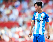 "SEVILLE, SPAIN - SEPTEMBER 30:  Juan Pablo Anor ""Juanpi"" of Malaga CF looks on during the La Liga match between Sevilla and Malaga at Estadio Ramon Sanchez Pizjuan on September 30, 2017 in Seville  (Photo by Aitor Alcalde Colomer/Getty Images)"