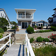 AVALON, NJ - JUNE 10, 2017: A view of the rear of the house from the private dock. 4738 Ocean Dr, Avalon, NJ. Credit: Albert Yee for the New York Times