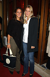 Left to right, MISS ALEXANDRA PAKENHAM daughter of Michael Pakenham and The HON.KIRSTY HAMILTON-SMITH daughter of Lord Colwyn at a party to celebrate the opening of Ishtar - a new mediterainian restaurant in Crawford Street, London W1 on 15th September 2004.<br />