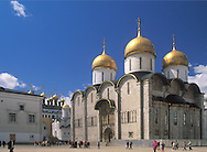 The Assumption Cathedral & other churches inside<br /> the Kremlin walls, Moscow, Russia