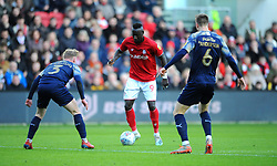 Famara Diedhiou of Bristol City tries to get past Ben Williams of Barnsley -Mandatory by-line: Nizaam Jones/JMP - 18/01/2020 - FOOTBALL - Ashton Gate - Bristol, England - Bristol City v Barnsley - Sky Bet Championship
