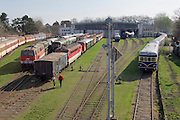"Strasshof, Austria.<br /> Opening of the season at Das Heizhaus - Eisenbahnmuseum Strasshof, Lower Austria's newly designated competence center for railway museum activities.<br /> R: ÖBB 4145 ""Blauer Blitz (Blue Lightning)"", 1952-1962."