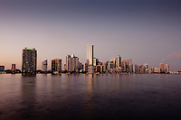 City of Miami Skyline from Key Biscayne