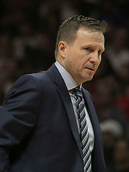 December 9, 2017 - Los Angeles, California, United States of America - Coach, Scott Brooks of the Washington Wizards during their NBA game with the Los Angeles Clippers on Saturday December 9, 2017 at the Staples Center in Los Angeles, California. Clippers defeat Wizards, 113-112. JAVIER ROJAS/PI (Credit Image: © Prensa Internacional via ZUMA Wire)
