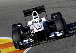 VALENCIA, SPAIN - Monday, February 1, 2010: Pedro de la Rosa (Sauber) during testing at the Ricardo Tormo Circuit de la Comunitat Valenciana. (Pic by Juergen Tap/Hoch Zwei/Propaganda)