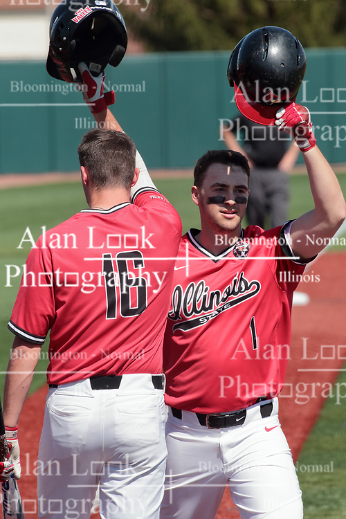 05 May 2018: Jordan Libman during an NCAA Division I Baseball game between the Bradley Braves and the Illinois State Redbirds in Duffy Bass Field, Normal IL