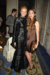 Left to right, FIONA SCARRY and ANOUSKA BECKWITH daughter of Tamara Beckwith at a party to celebrate the launch of The Essential Party Guide held at the Mandarin Oriental Hyde Park, 66 Knightsbridge, London on 27th March 2007.<br />