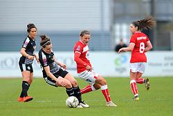 Loren Dykes of Bristol City compeets with Lauren Bruton of Reading Women- Mandatory by-line: Nizaam Jones/JMP- 31/03/2019 - FOOTBALL - Stoke Gifford Stadium - Bristol, England - Bristol City Women v Reading Women - FA Women's Super League 1