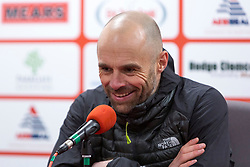 Rotherham United manager Paul Warne faces the press after a 2-0 win against AFC Wimbledon - Mandatory by-line: Ryan Crockett/JMP - 03/02/2018 - FOOTBALL - Aesseal New York Stadium - Rotherham, England - Rotherham United v AFC Wimbledon - Sky Bet League One