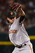 PHOENIX, AZ - MAY 14:  Jake Peavy #22 of the San Francisco Giants delivers a pitch in the first inning Arizona Diamondbacks at Chase Field on May 14, 2016 in Phoenix, Arizona.  (Photo by Jennifer Stewart/Getty Images)