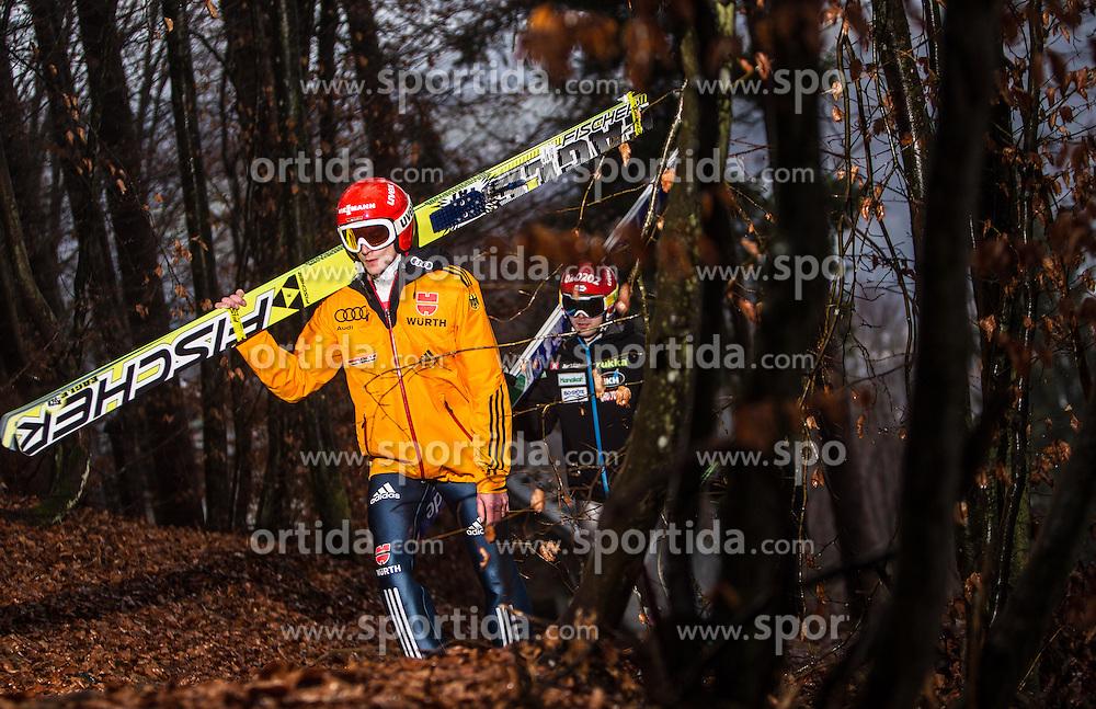 05.01.2014, Paul Ausserleitner Schanze, Bischofshofen, AUT, FIS Ski Sprung Weltcup, 62. Vierschanzentournee, Training, im Bild Richard Freitag (GER) // Richard Freitag (GER) during practice Jump of 62nd Four Hills Tournament of FIS Ski Jumping World Cup at the Paul Ausserleitner Schanze, Bischofshofen, Austria on 2014/01/05. EXPA Pictures © 2014, PhotoCredit: EXPA/ JFK