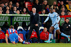 Crystal Palace Manager Alan Pardew gestures - Photo mandatory by-line: Rogan Thomson/JMP - 07966 386802 - 06/04/2015 - SPORT - FOOTBALL - London, England - Selhurst Park - Crystal Palace v Manchester City - Barclays Premier League.
