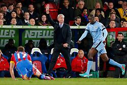 Crystal Palace Manager Alan Pardew gestures - Photo mandatory by-line: Rogan Thomson/JMP - 07966 386802 - 06/04/2015 - SPORT - FOOTBALL - London, England - Selhurst Park - Crystal Palace v Manchester City - Barclays Premier League.