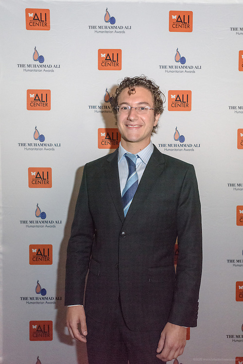 Teddy Abrams, the conductor of the Louisville Orchestra, on the red carpet at the fourth annual Muhammad Ali Humanitarian Awards Saturday, Sept. 17, 2016 at the Marriott Hotel in Louisville, Ky. (Photo by Brian Bohannon for the Muhammad Ali Center)