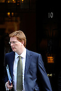 © Licensed to London News Pictures. 21/03/2012. Westminster, UK. Chief Secretary to the Treasury Danny Alexander leaves Downing Street  on Budget Day in London, on March 21, 2012. The Chancellor is expected to raise the amount of money people can earn before income tax takes hold and impose a new levy on the purchase of expensive homes. Photo credit : Stephen SImpson/LNP