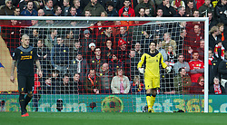 16.03.2013, St. Marys Stadion, Southampton, ENG, Premier League, FC Southampton vs FC Liverpool, 30. Runde, im Bild Liverpool's goalkeeper Brad Jones looks dejected as Southampton score the opening goal during during the English Premier League 30th round match between Southampton FC and Liverpool FC at the St. Marys Stadium, Southampton, Great Britain on 2013/03/16. EXPA Pictures © 2013, PhotoCredit: EXPA/ Propagandaphoto/ David Rawcliffe..***** ATTENTION - OUT OF ENG, GBR, UK *****