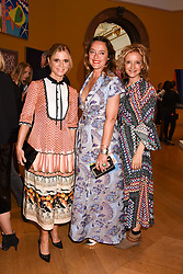 Left to right, Emilia Fox, Alice Temperley and Lara Cazalet at the Royal Academy of Arts Summer Exhibition Preview Party 2017, Burlington House, London England. 7 June 2017.