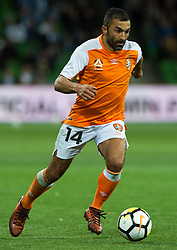 October 6, 2017 - Melbourne, Victoria, Australia - Melbourne, Victoria, Australia - Fahid Ben Khalfallah (#14) of Brisbane Roar in action during the round 1 match between Melbourne City and Brisbane Roar at AAMI Park in Melbourne, Australia during the 2017/2018 Australian A-League season. (Credit Image: © Theo Karanikos via ZUMA Wire)