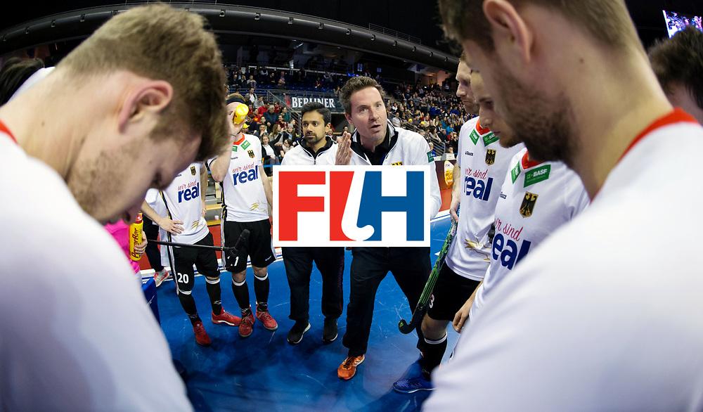 BERLIN - Indoor Hockey World Cup<br /> Men: Germany -  Trinidad &amp; Tobago<br /> foto: Stefan Kermas.<br /> WORLDSPORTPICS COPYRIGHT FRANK UIJLENBROEK