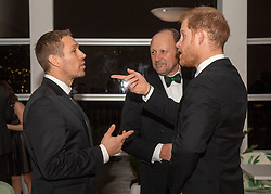 Jonny Wilkinson (left) and the Duke of Sussex (right) during a reception in aid of England Rugby's Try For Change programme and the Jonny Wilkinson Foundation at the Kensington Palace Pavilion in London.