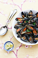 Mussels on plate
