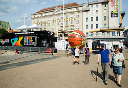 FIBA Basketball World Cup Spain 2014 Trophy Tour, on June 21, 2014 in Ban Jelacic Square, Zagreb, Croatia. Photo By Vid Ponikvar / Sportida