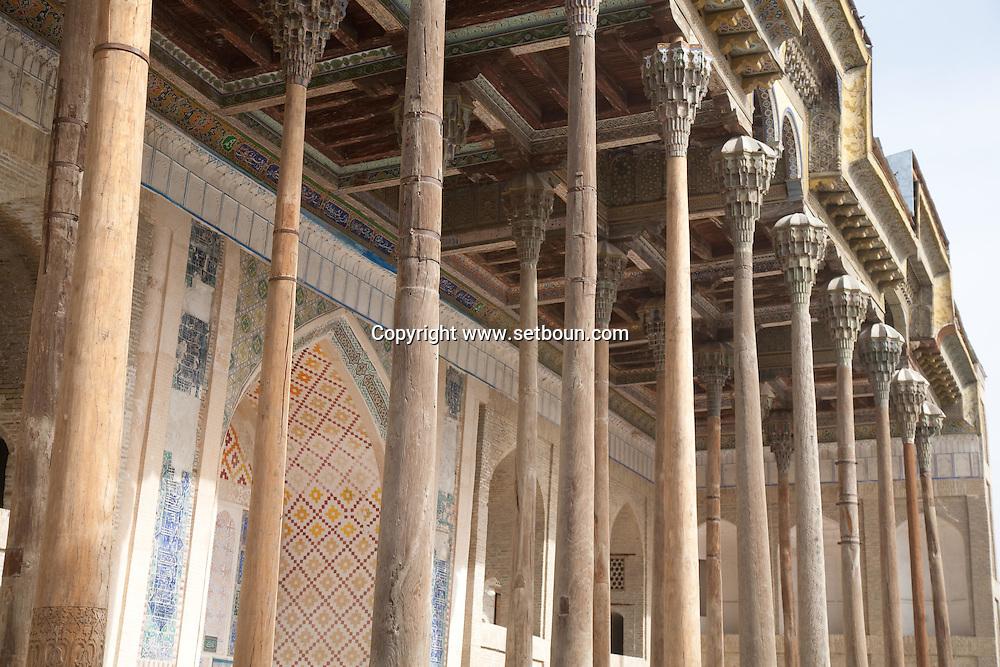 BOLO HAOUZ mosque  Boukhara  Ouzbekistan  .///.mosquee Bolo haouz  Boukara  Ouzbekistan .///.OUZB56278