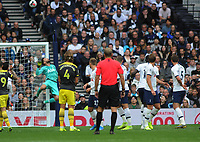 Football - 2019 / 2020 Premier League - Tottenham Hotspur vs. Southampton<br /> <br /> Hugo Lloris of Tottenahm tips a shot over the bar from a James Ward Prowse free kick, at The Tottenham Hotspur Stadium.<br /> <br /> COLORSPORT/ANDREW COWIE