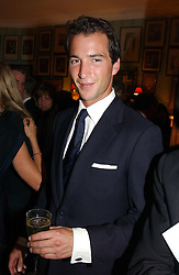 The HON.WILL ASTOR at a party for interior designer Katherine Ireland held at Marks club, 46 Charles Street, London W1 on 27th September 2004.<br /><br />NON EXCLUSIVE - WORLD RIGHTS