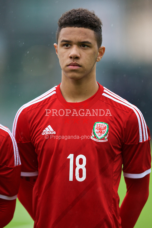 YSTRAD MYNACH, WALES - Thursday, February 19, 2015: Wales' Tyler Roberts before a friendly match against Czech Republic at the Centre of Sporting Excellence. (Pic by David Rawcliffe/Propaganda)