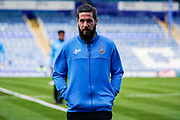Bradford City players inspect the pitch at Fratton park ahead of the EFL Sky Bet League 1 match between Portsmouth and Bradford City at Fratton Park, Portsmouth, England on 2 March 2019.