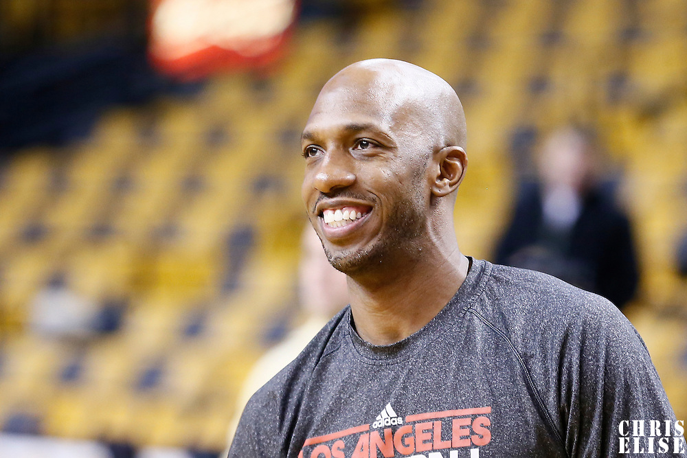 03 February 2013: Los Angeles Clippers point guard Chauncey Billups (1) warms up prior the Boston Celtics 106-104 victory over the Los Angeles Clippers at the TD Garden, Boston, Massachusetts, USA.