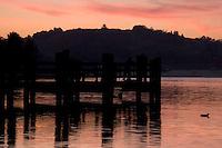 Fishing Pier at Puddingstone Lake, Frank G. Bonelli County Park, San Dimas, California