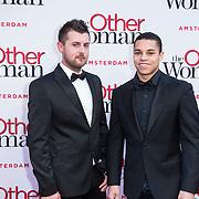 NLD/Amsterdam//20140401 - Filmpremiere The Other Woman, Jeffrey Wammes en partner Maurits