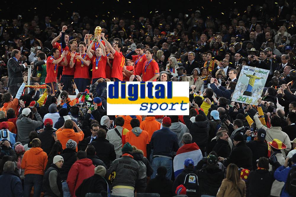 FOOTBALL - FIFA WORLD CUP 2010 - FINAL - SPAIN vs NETHERLANDS - JOHANNESBURG 11/07/2010 - SPAIN WORLD CHAMPION<br /> PHOTO FRANCK FAUGERE / DPPI