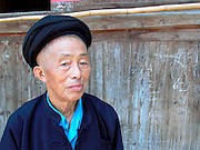 Village elder,near Duyun Guizhou Province, China